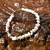 Stone Chip Bracelet/ White Stone Chip Bracelet/ Stone Bracelet/ Bracelet/