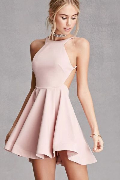 short homecoming dress,backless homecoming dresses C18