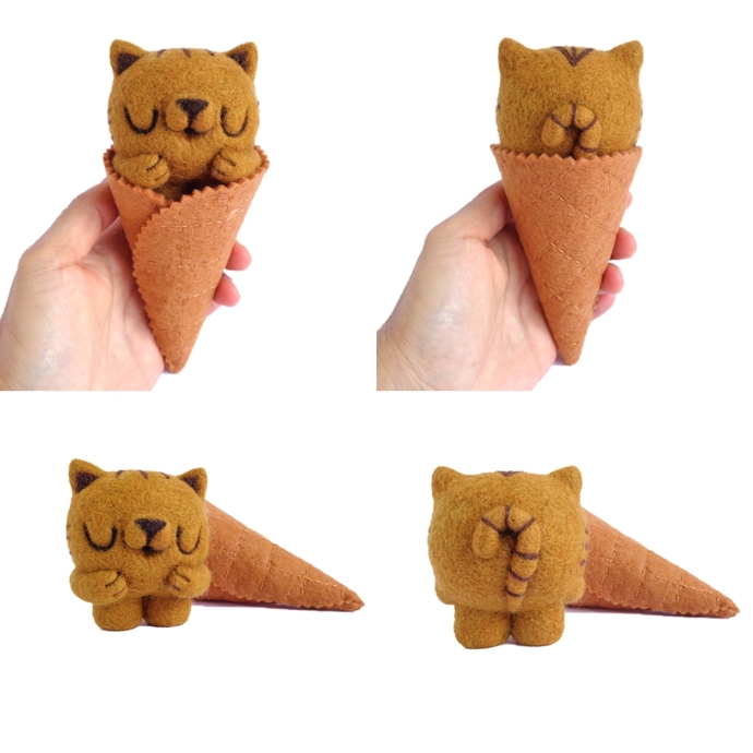 Custom Scoopsie Kitty - Turn your cat into a kitty ice cream scoop! - Custom pet