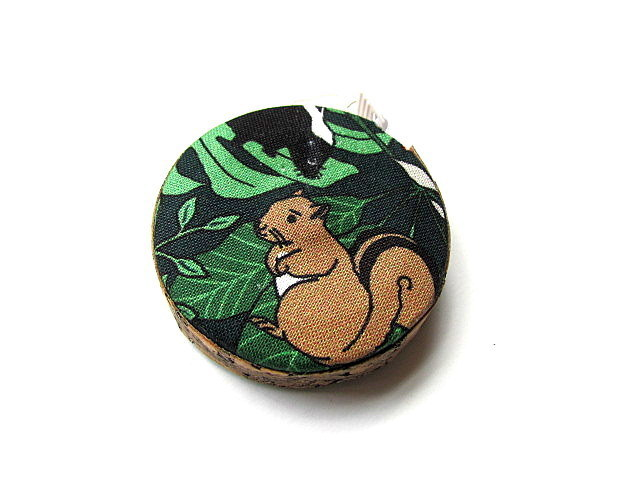 Tape Measure Racoon and Chipmunk Woodland Retractable Measuring Tape