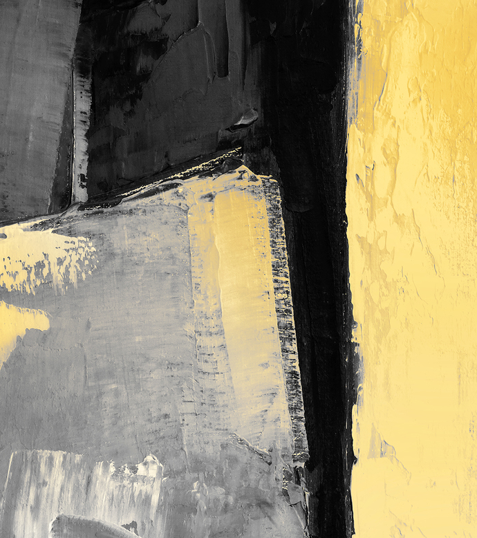Set of 3 | 3 Panel | Large Yellow Gray Prints | Abstract Wall Art | Modern art |