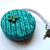 Tape Measure Teal Knitting Stitches Retractable Pocket Measuring Tape