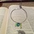 Beaded Hammered Wire Circle Pendant