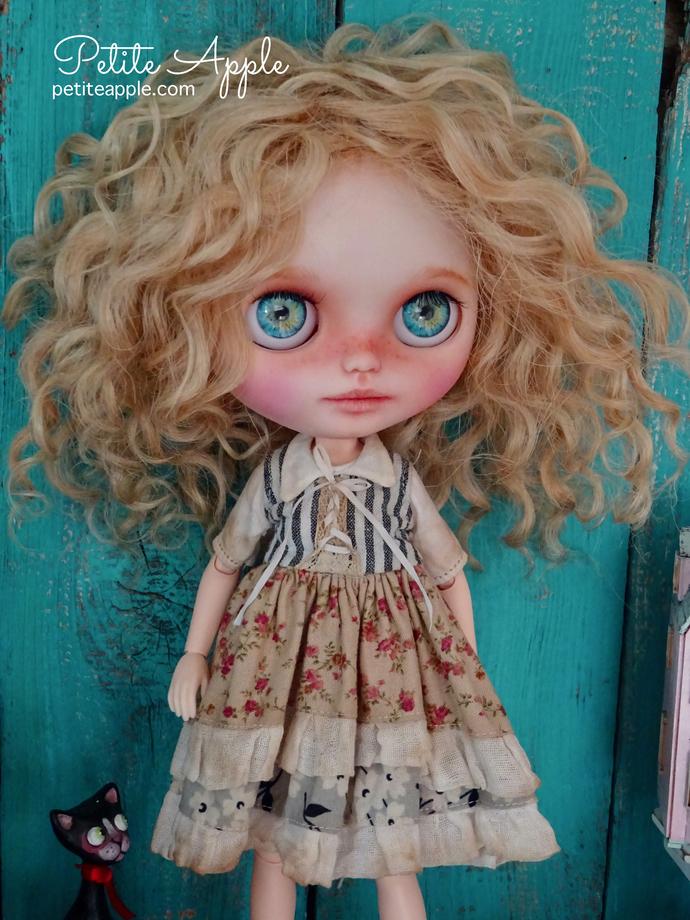 Blythe doll OOAK dress- *Bienvenue à la campagne* + stockings