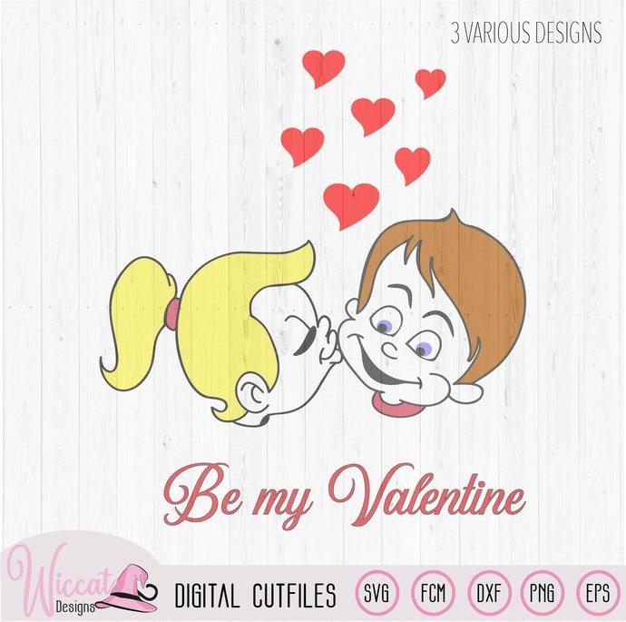 Valentine Couple shirt svg, Valentine kiss svg, Girl svg, Boy svg,  Valentine