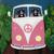 Pink Road Trip Driving Tuxedo Cats Original Cat Folk Art Painting
