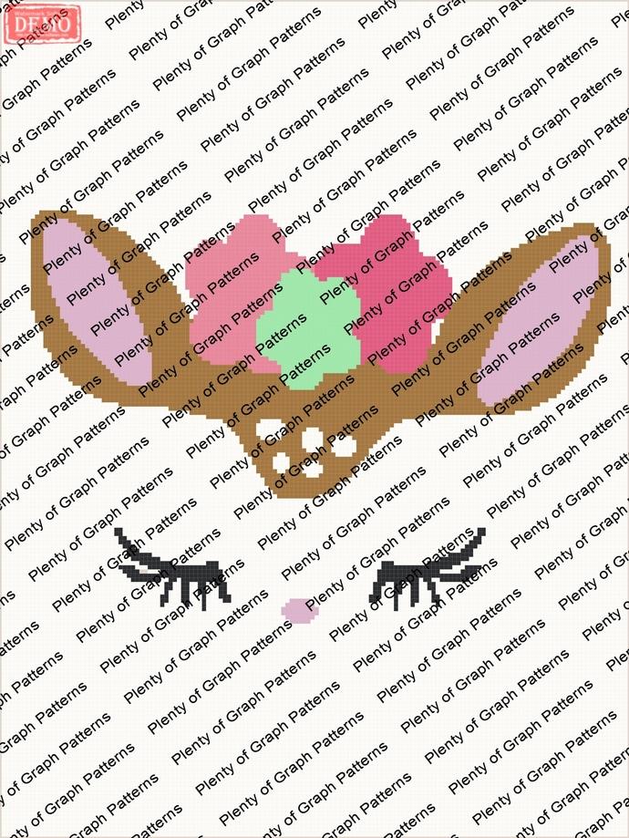 Sleeping Deer Face graph and written pattern