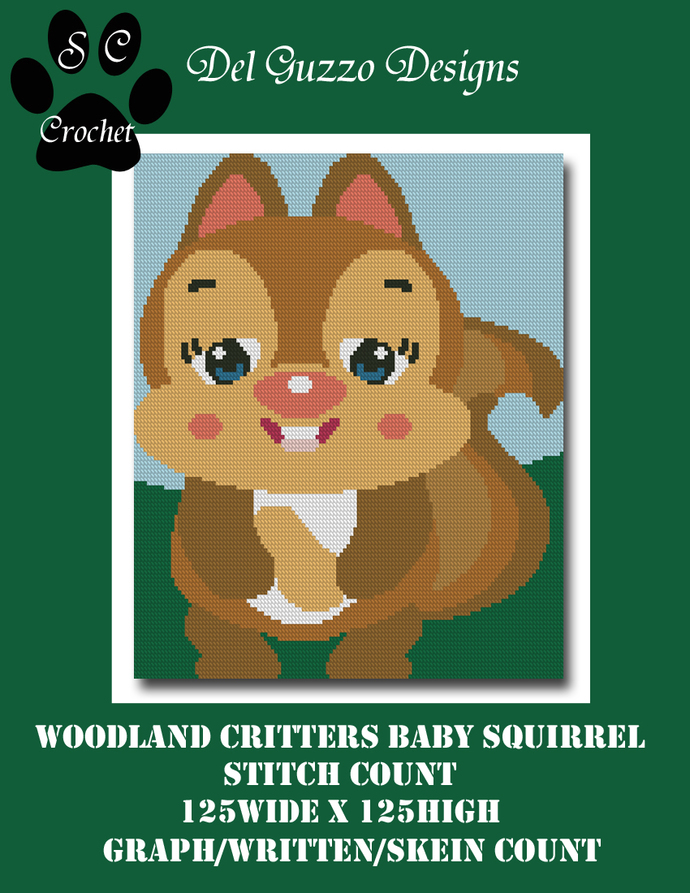 Woodland Critters Baby Squirrel 125x125 SC