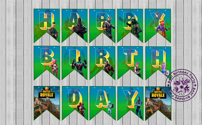 Free Fortnite Birthday Party Printable Files Banner Invitation