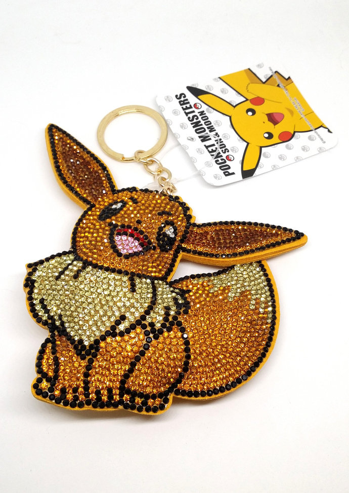Pokemon Puffy Bling Keychain / Bag Charm - Japan Import Nintendo Pocket Monsters
