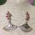 The Pink Cubic Zirconia Fan Earrings