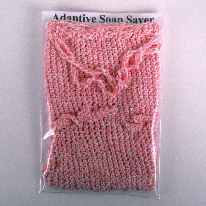 Pink Adaptive Soap Saver finger loops