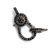925 Sterling Silver Black Spinel Antique Finish Over with Ring Claps Pendant