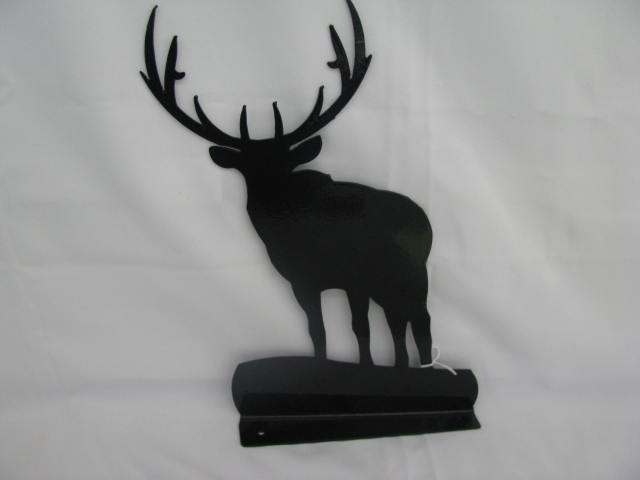 Elk Mail box Topper Metal Silhouette