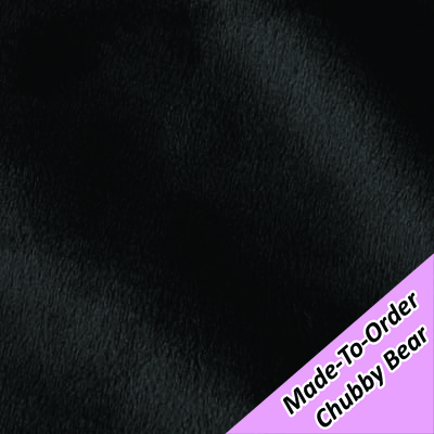 MADE-TO-ORDER CHUBBY BEAR: Black Minky