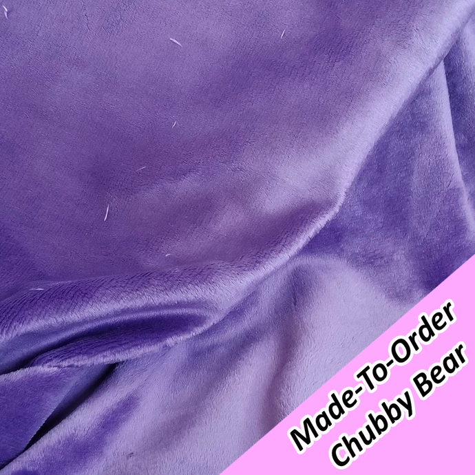 MADE-TO-ORDER CHUBBY BEAR: Dark Purple Minky