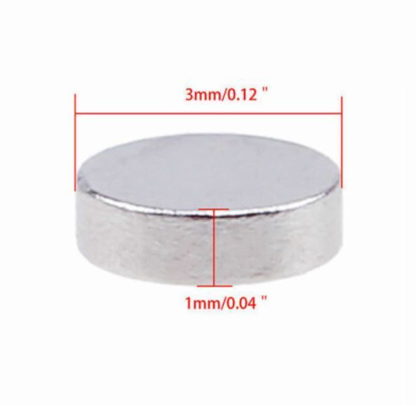 3mm x 1mm Tiny Magnet 15 Pcs - Great for Crafts - Journals - Paper - Cards