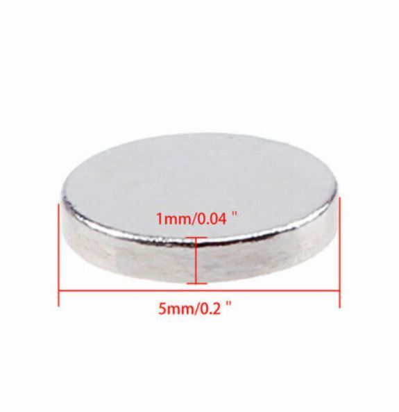 5mm x 1mm Tiny Magnets 10 Pcs - Great for Crafts, Journals, Cards