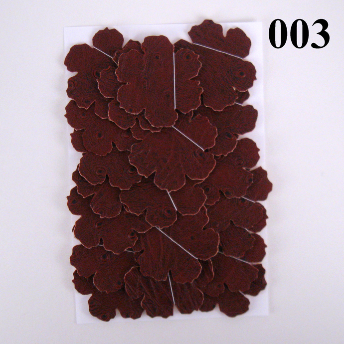 Textured Red Brown Vinyl Die Cut Flowers