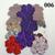Colorful Shiny Textured Vinyl Die Cut Flowers