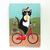 Tuxedo Cat Ice Cream Bicycle Ride Original Cat Folk Art Painting