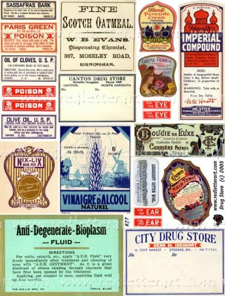 Apothecary Collage Sheet