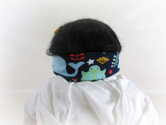 Infant Stretch Tie Knot Headband in Ocean Animals