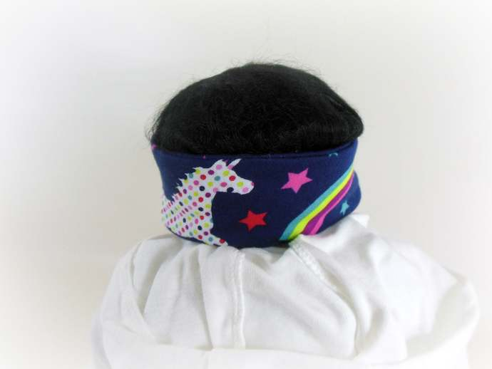 Infant Stretch Tie Knot Headband in Unicorn and Rainbows