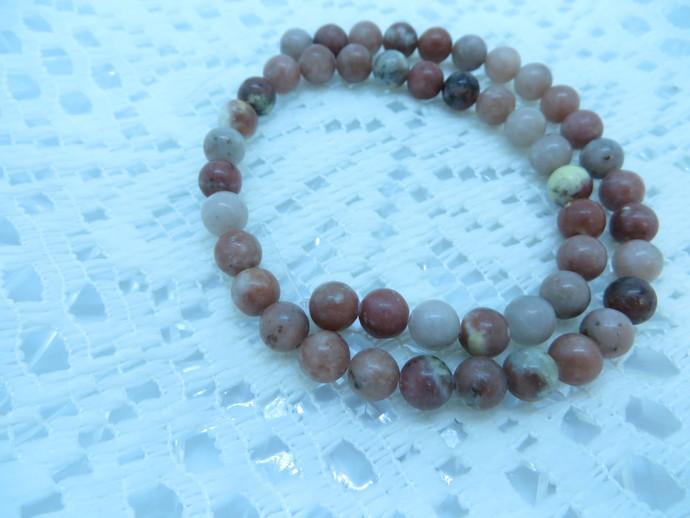 Full 16 inch strand of 8mm round Lepidolite gemstone beads
