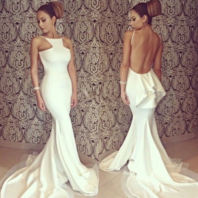 Backless Prom Dresses, Sexy Prom Dress, Backless Prom Dresses, Spandex Prom