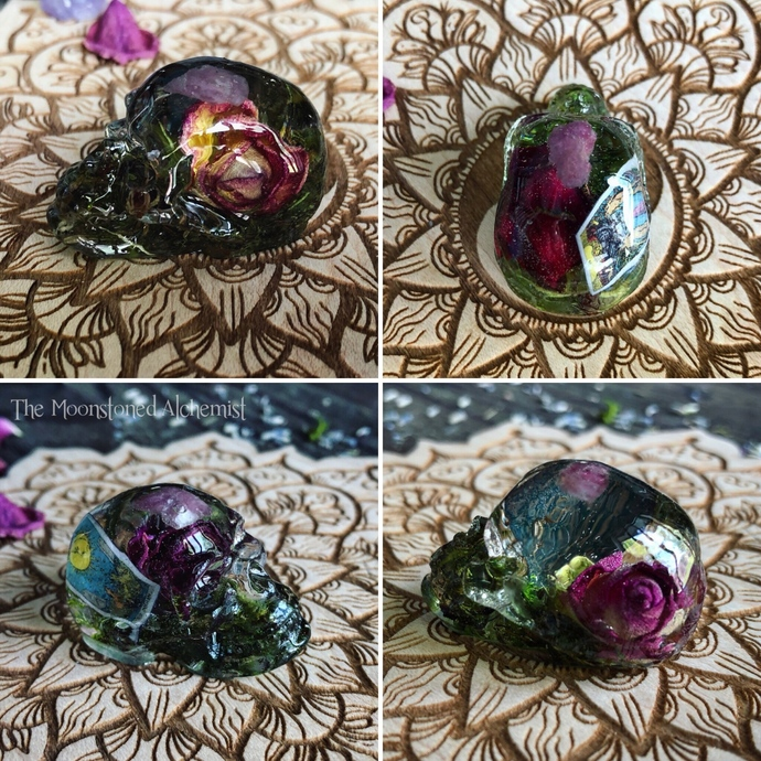 Rosebud Tarot Skullies with crystal and botanical infusions