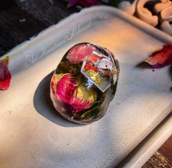 Rosebud Tarot Skullies with crystal and botanical infusions