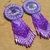 "Native American Style Rosette Beaded ""Fawn in a field of Purple flowers"""