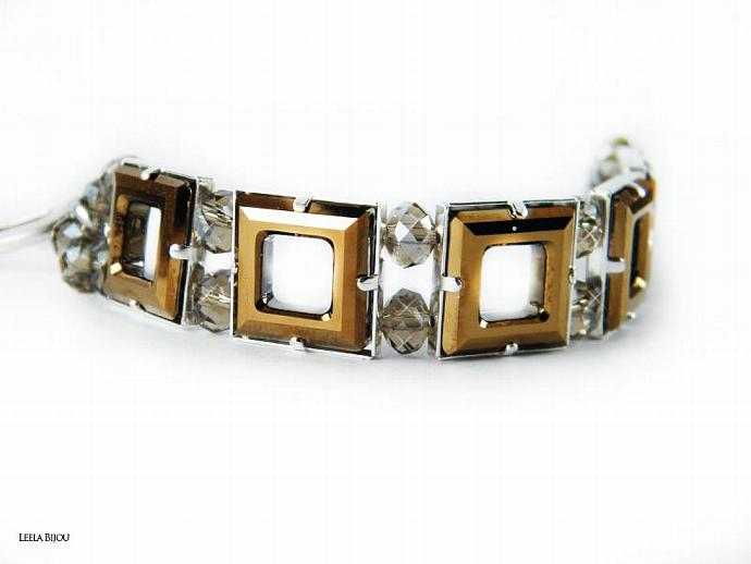La Vie In Gold Bracelet Swarovski Crystal Silver Plated - Made To Order
