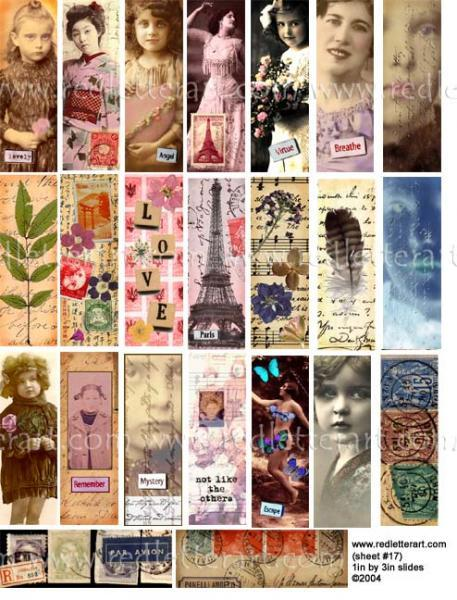 Eiffel Slide Collage Sheet