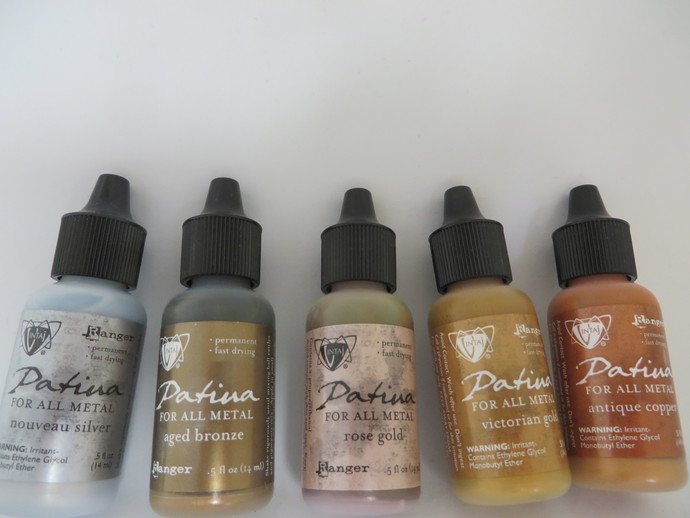 Your choice of  ONE   .5 fl. oz. Vintaj metal patina paints by Ranger