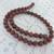 Full  approx. 16 inch strand of 8mm round  Red Sesame Jasper  gemstone beads