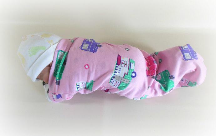 Set of 3 Swaddle Sacks, Sleep Sack, Cocoon, Blanket, Wrap in Campers, Stripes, &