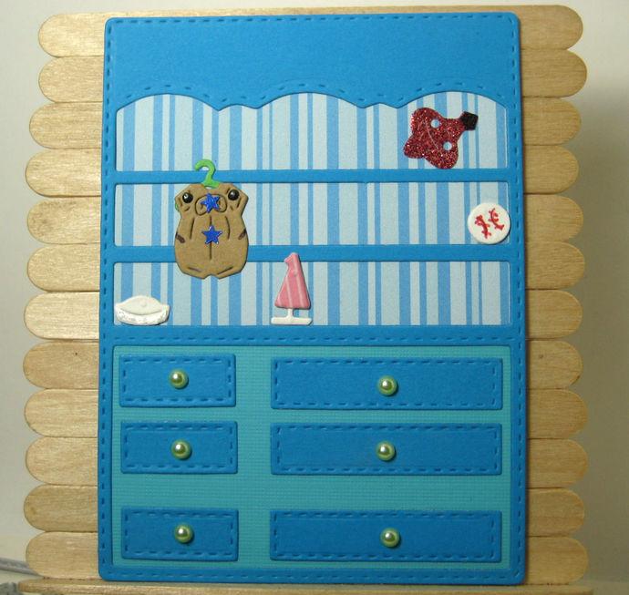 Dresser, Toys and Clothes Die Set, Wardrobe