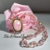 Opal Style Necklace Handmade Princess style Pink Crystals