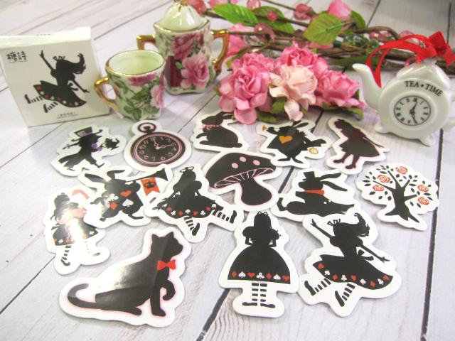 Alice in Wonderland Stickers Scrapbooking, Journaling, Junk Journal Supplies -