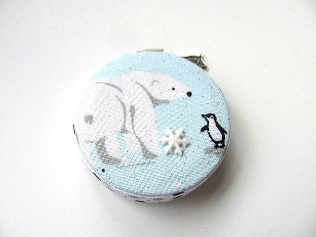 Measuring Tape Polar Bears and Penguins Retractable  Pocket Tape Measure