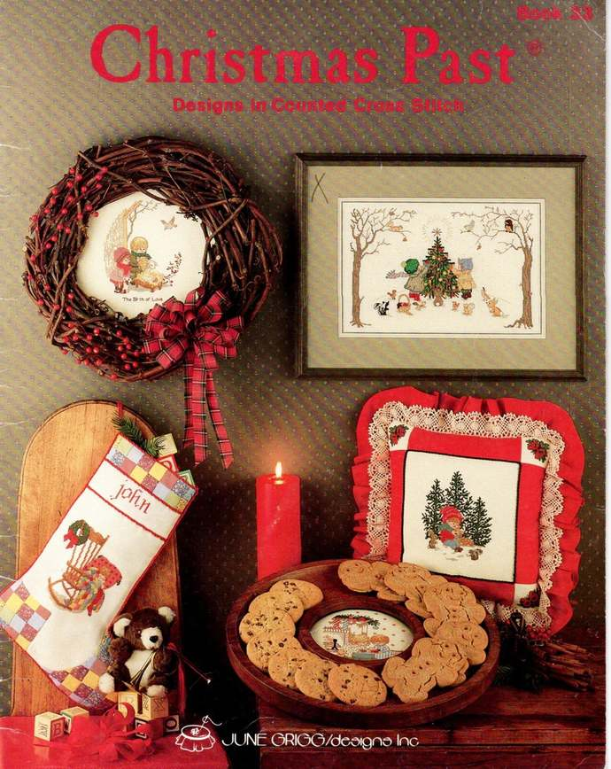 Christmas Past Cross Stitch Pattern Leaflet 1987 June Grigg Designs Book 33
