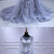 Spring Flower Lace Long Sleeve Pageant Prom Dress, Lace Evening Dress D-084