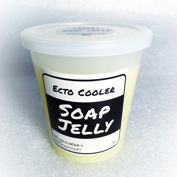 Ecto Cooler type Soap Jelly Vegan shower wiggly bath soap jelly - Glow in the