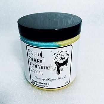 RTS Burnt Sugar Caramel Corn creamy sugar scrub