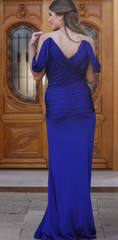 Evening Dress,Party Dresses,Mermaid Prom Gown,Prom Dresses,Royal Blue Evening