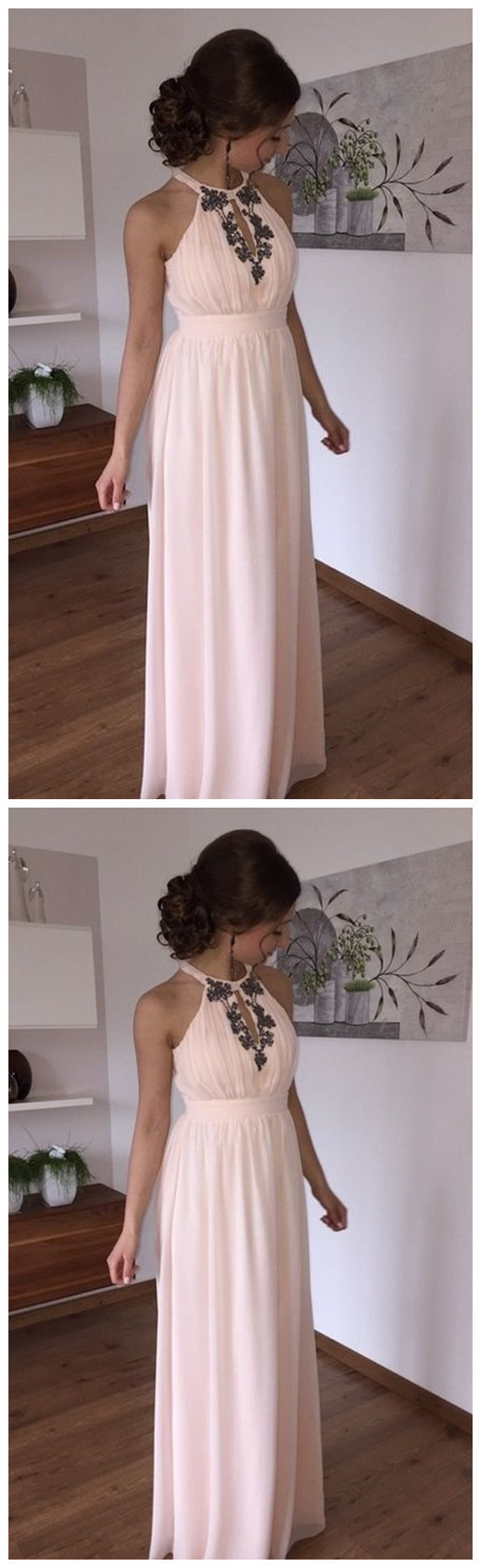 Evening Dress,Sleeveless Prom Dress,Backless Party Dresses,Long Prom Dress