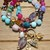 Multi Color Gemstone Beaded Necklace by Knotted Up Hand Knot Dream Goddess