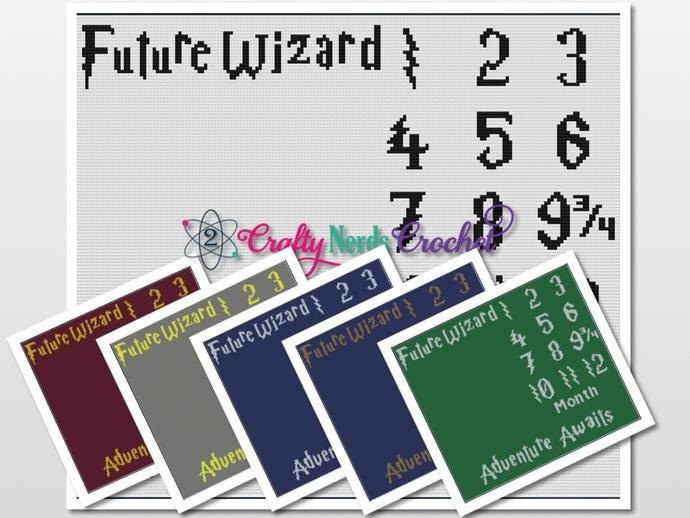 Future Wizard Pattern Graph With Single Crochet Written